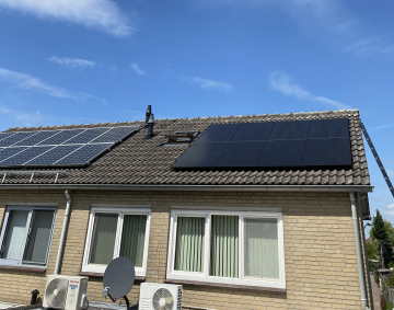Zonnepanelen in Vierlingsbeek